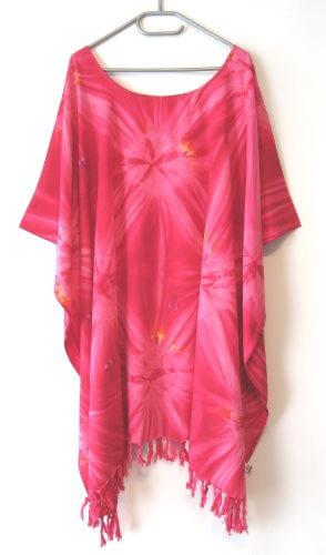 Kaftan Damen Kleid lang Rot Gelb Töne Größe 4XL 5XL 6XL 62 64 66 68 70 CW608